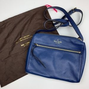 Kate Spade Blue Leather Crossbody